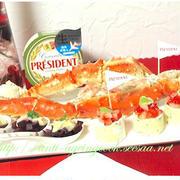 プレジデント カマンベールチーズ お家パーティーでチーズ テーマは赤