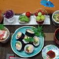 太巻き寿司、ゴーヤチャンプルーの晩ごはん!