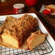 メープルパウンドケーキ♡クルミ&メープルアイシング。