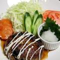おせちリメイク♪黒豆煮の和風ハンバーグ と 長ねぎの炊き込みご飯。