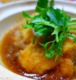 チキンカツのおろし煮☆お手頃鶏むね肉もボリュームアップ
