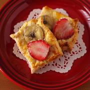 ホットケーキミックスで簡単♪いちごとバナナのミニデニッシュパン