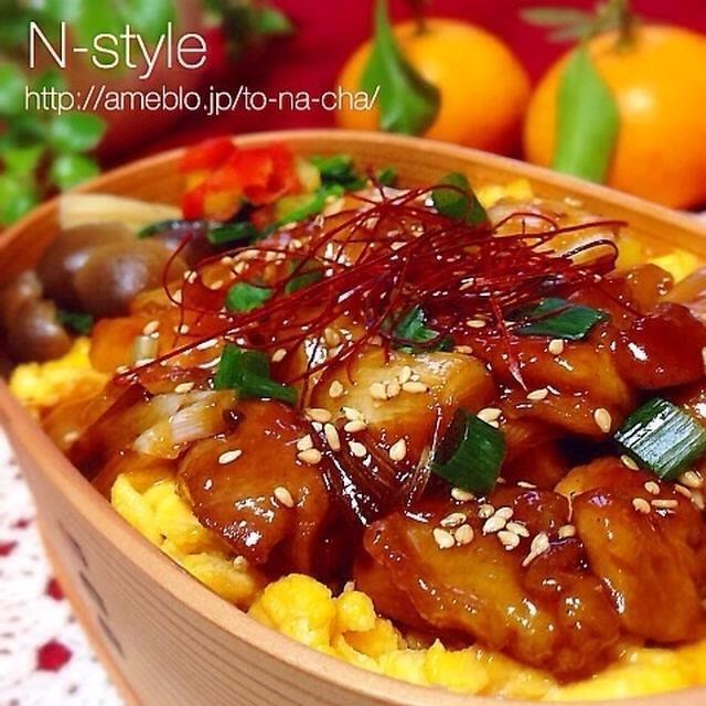 レシピあり♡焼き鳥丼弁当♡