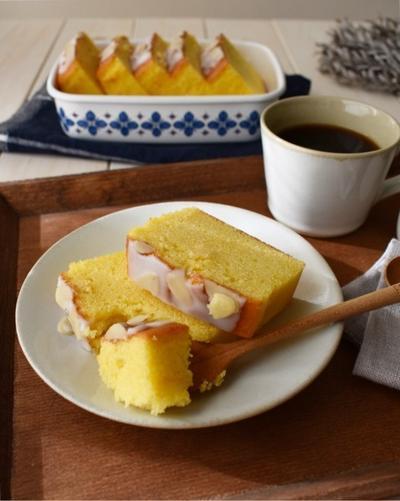 リッチできめ細かなしっとり【バターケーキ】何で3切れ食べたん?