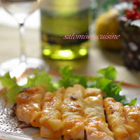 日本ワインと和食✿シャルドネと愉しむ一品!鶏むね肉の西京味噌チーズ焼き柚子風味~✿