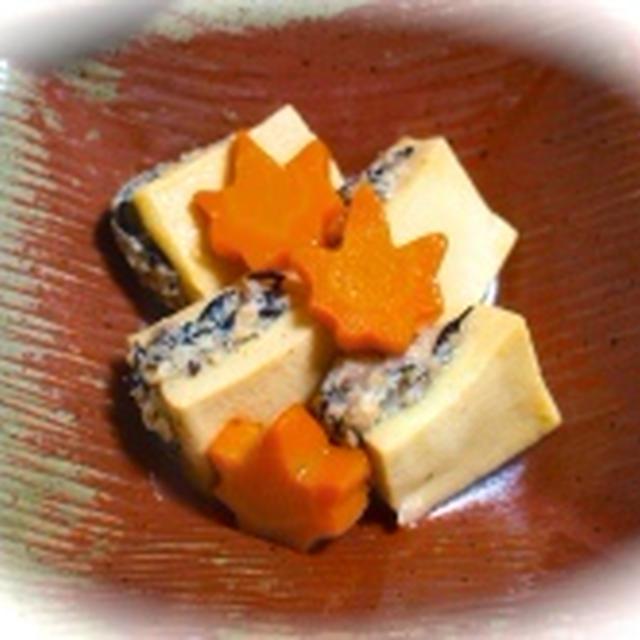 ほっこり和食♡高野豆腐の鋳込み(肉詰め)&アレンジ一品