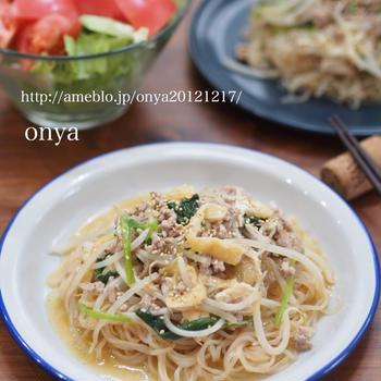 ダイエット中じゃなくても満足♡本当に麺みたい♡しらたきde野菜のあんかけ麺風♡