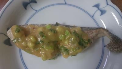 鱈のねぎ味噌焼き
