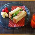 手っ取り早い挟むだけの食材(;´▽`A``ハムサンドイッチ♪~♪ by みなづきさん