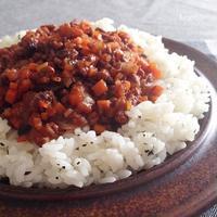 人参 レーズン トマトミートソース と ミントバターライス☆