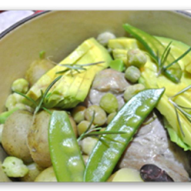 豚ロース肉のリモンチェッロの煮込み【Porc et Legumes au Limoncello】
