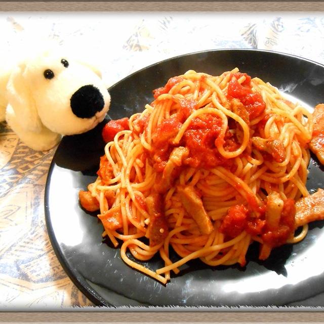 『アマトリチャーナ』豚トロを玉ねぎの皮で燻すトマトソースパスタ!?家庭で本格イタリアン!!
