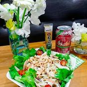 レンコンとお豆のサラダ