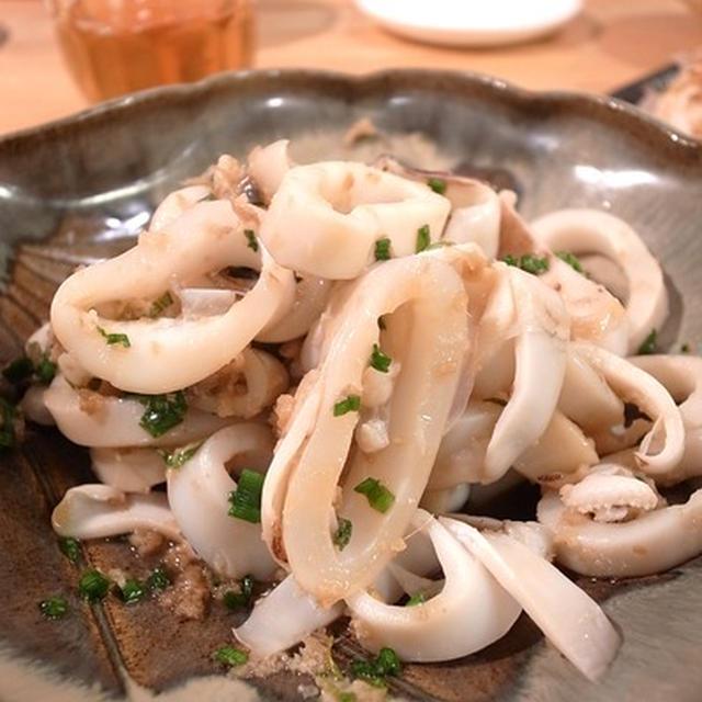 やりいかのさっと茹でしょうが醤油和え。日本酒にぴったり 家庭内魚食推進するための47fish合宿