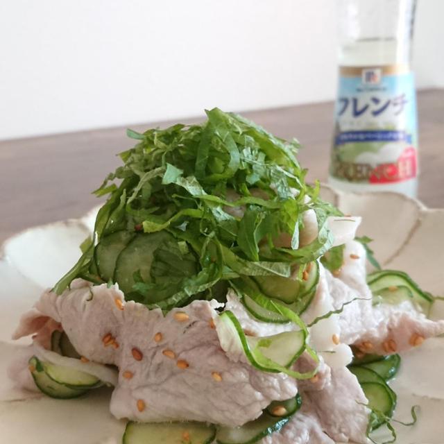 豚肉ときゅうりの和え物︰ユウキ食品 MCセパレートフレンチドレッシング