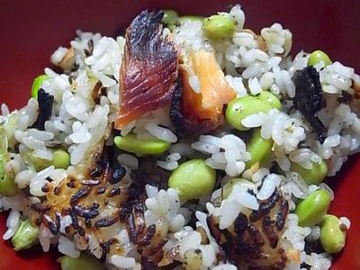 >鮭と枝豆の炊き込みご飯 by 越後屋さん