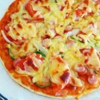 超簡単☆時短生地でおいしいピザ