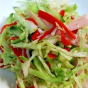 ザクザク切って混ぜるだけ☆簡単でおいしいサラダ