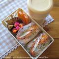 12.19 私の定番。目玉焼きサンドのお弁当とみかんのドライフルーツ by YUKAさん