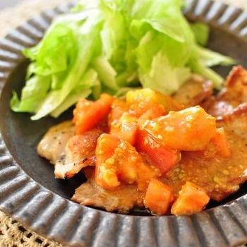 ≪10分で完成!真夏ごはん≫豚肉のソテーにトマトだれとやまといものカリカリトースター焼き
