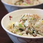 鯵の干物と小松菜の混ぜご飯。 by ゆりぽむさん