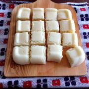 【春休みのおやつに*究極に簡単】完成まで5分!牛乳ケーキ*レンジ&ホットケーキミックスで