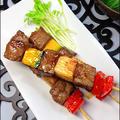 醤油麹で牡蠣の旨み牛肉と野菜の炙り串焼き