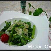春菊とグリーンアスパラガスのイタリアン風サラダ