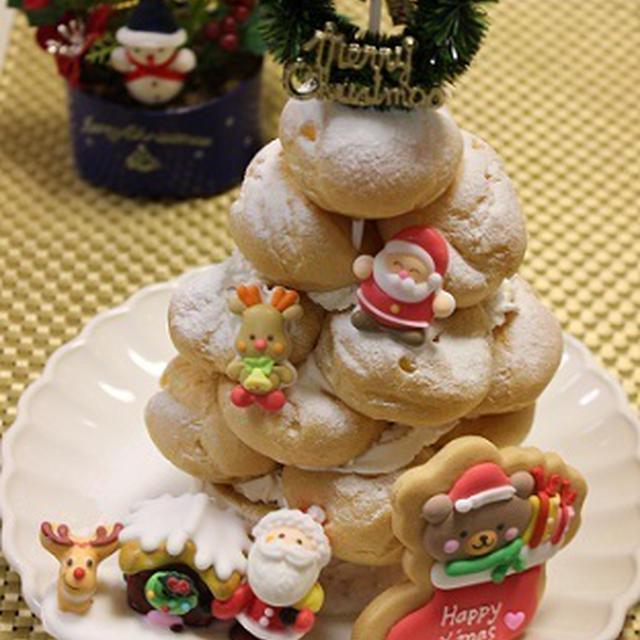 クリスマス★5分でシュークリームツリー
