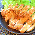 5枚いけちゃう。焦がし生姜の酢醤油パリパリチキン(糖質3.9g) by ねこやましゅんさん
