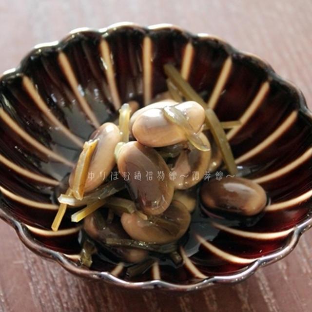 昆布水を使って、鞍掛豆と切り昆布の炊いたん。