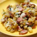 【レシピ】新じゃが使った美味しい一品。サイコロじゃがいもで、ジャーマンポテト&チーズ