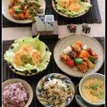 黒酢の酢鶏、ジャンボ海老マヨ!で、おうち中華♪