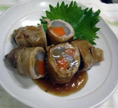 根菜の肉巻き