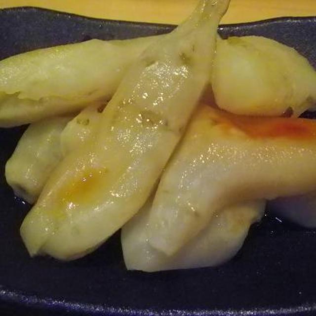 2011.11.14 今日の一皿「菊芋の浅漬けの素煮」