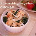 大根葉とカニと玉葱のサラダ by MOMONAOさん