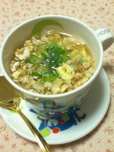 「雑穀畑」の中華玉子スープ