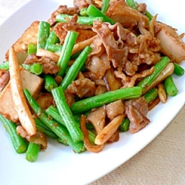 厚揚げと豚肉の生姜炒め