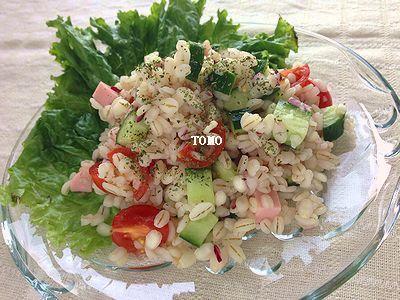 食物繊維たっぷり♪GABAN香菜 de タイ風押し麦サラダ