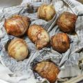炭火で作る『里芋の蒸し焼き』