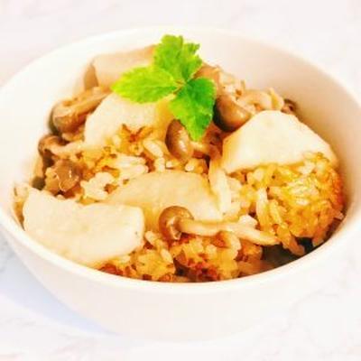 絶対失敗しない!長芋ときのこの炊き込みご飯の簡単レシピ