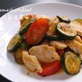 男子大学生のオトコ飯 「夏野菜と鶏肉の黒胡椒炒め作ってみた」