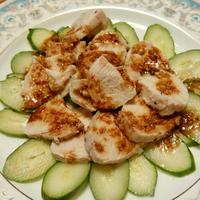 ピリ辛サラダチキンと小鉢系8品とポテサラと