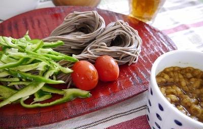 ★ カレーつけ蕎麦&カツオ揉み