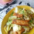 【レシピあり】カジキマグロとキャベツのカレー炒め