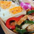 焼肉飯と竹輪の炒め物弁当