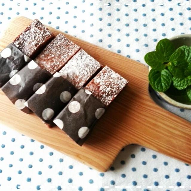 季節の香りのチョコブラウニー♡柚子の香りチョコっとチョコブラウニー作りました(* ̄∇ ̄*)