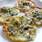 イタリアンハーブ香る餃子の皮のおつまみPIZZA