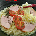 チーズとろ~り♪ハム&トマトの塩ラーメン/「自家製ツナ」検索1位!