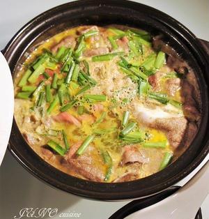 鍋ひとつで出来上がり!☆牛肉とゴボウのニラ入り卵とじ☆